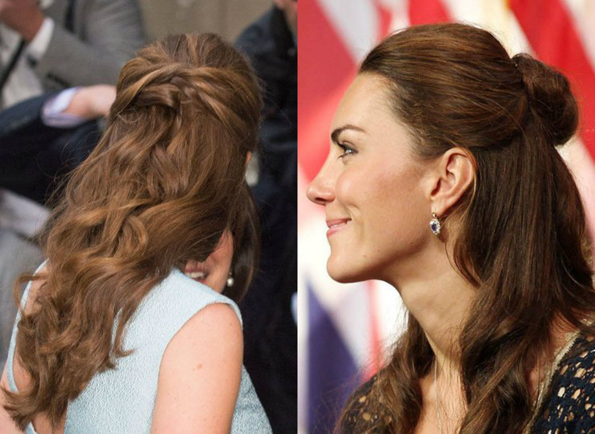 Kate Middleton half up half down hairstyles 2017