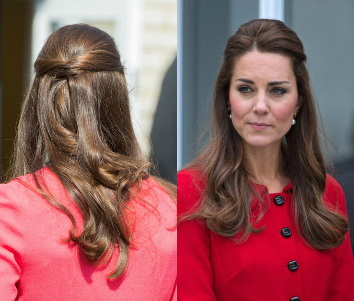 Kate Middleton half updo hairstyles 2017