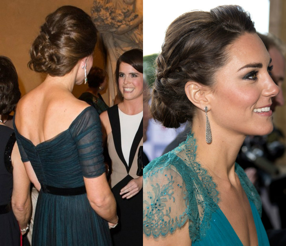 Kate Middleton updo hairstyles 2017