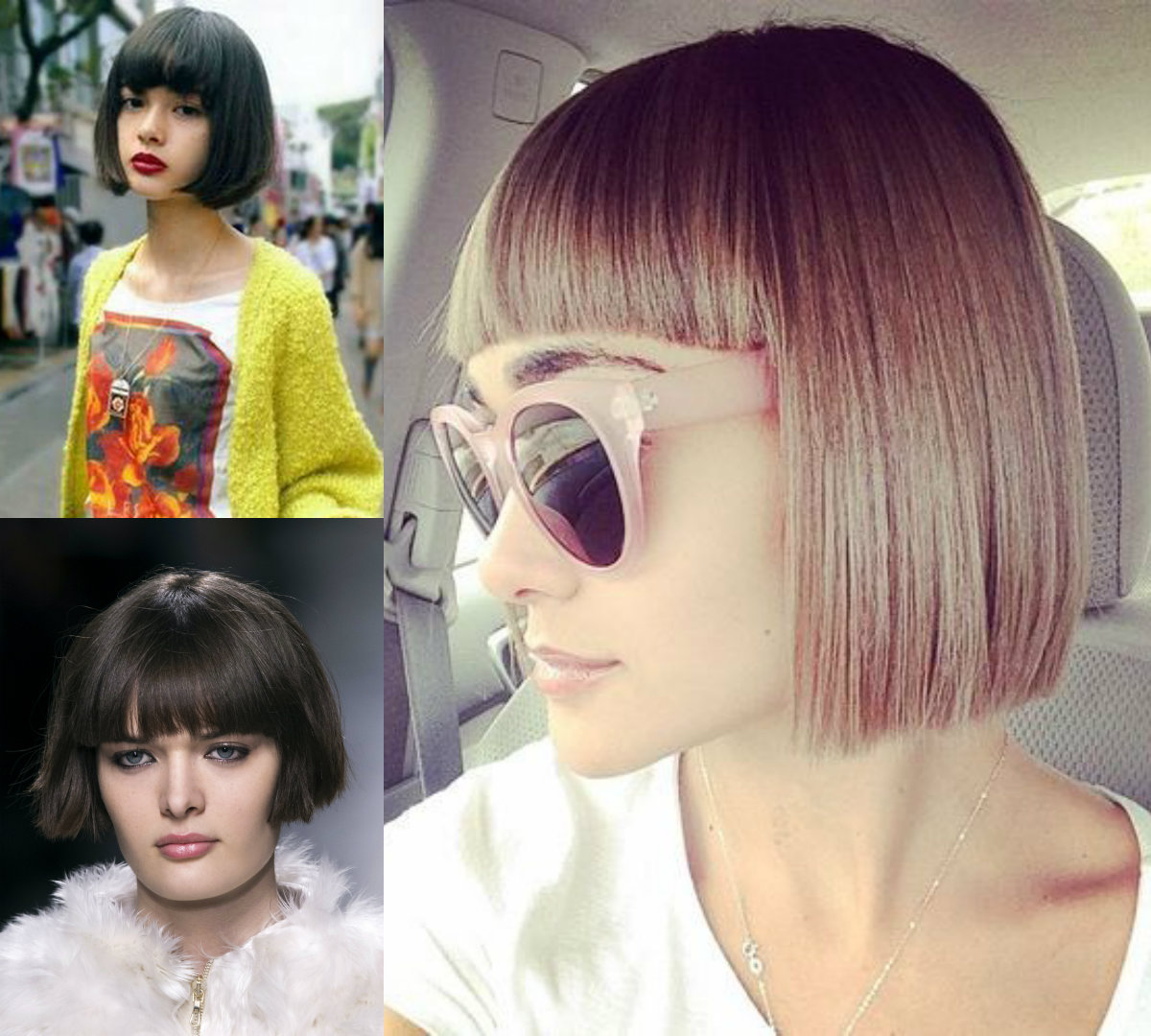 best blunt bob hairstyles with bangs