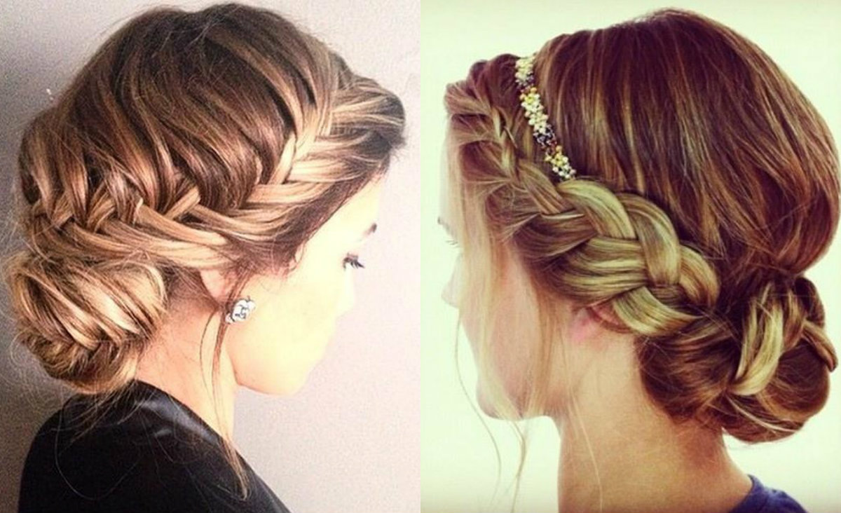 braided low bun hairstyles 2017