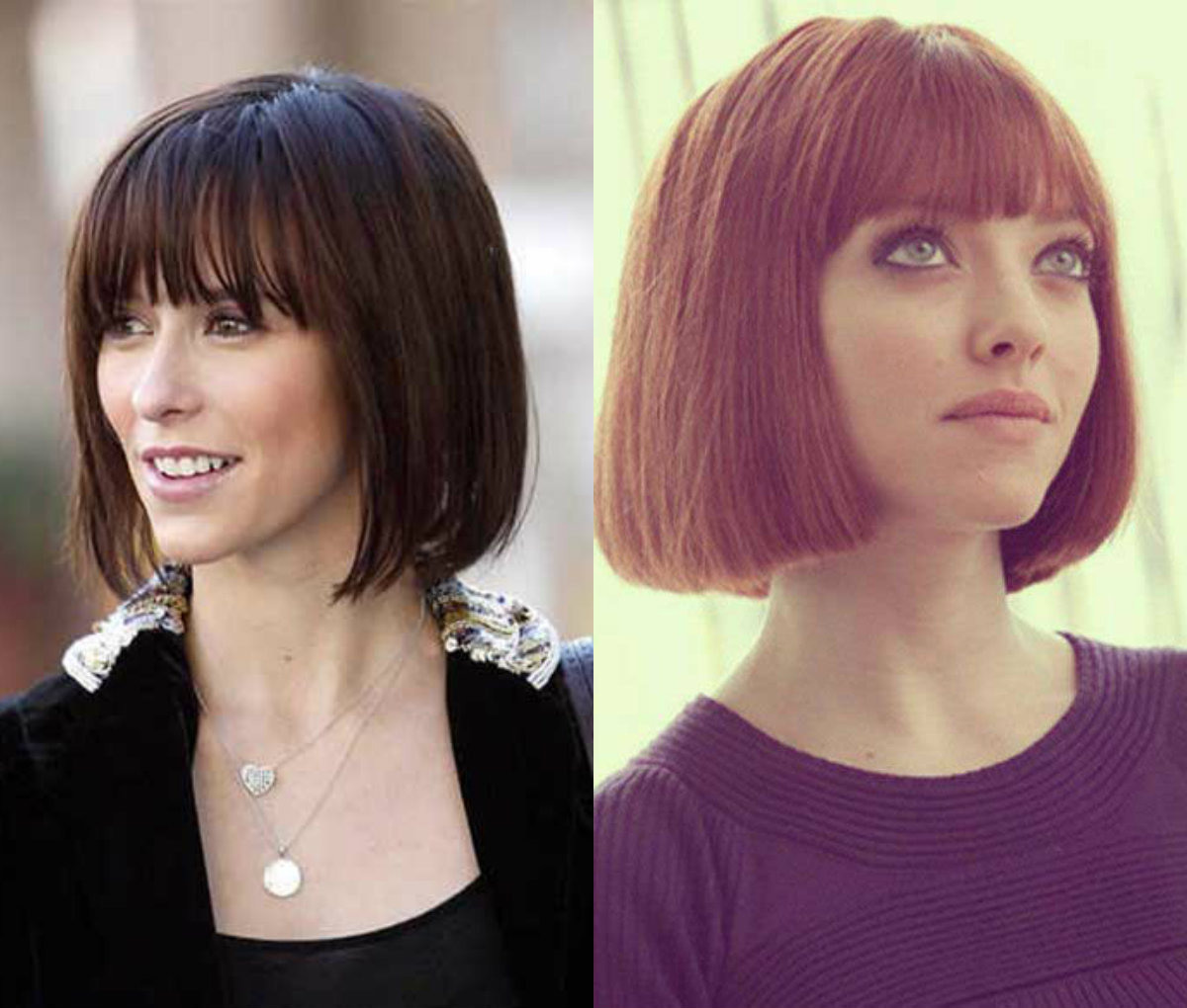 celebrity blunt bob hairstyles with bangs