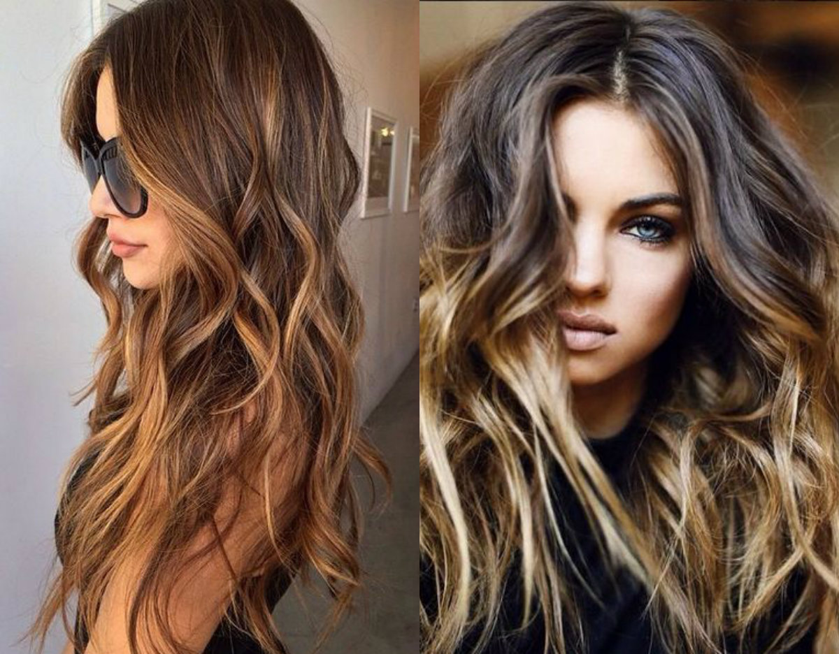 long wavy hairstyles with highlights
