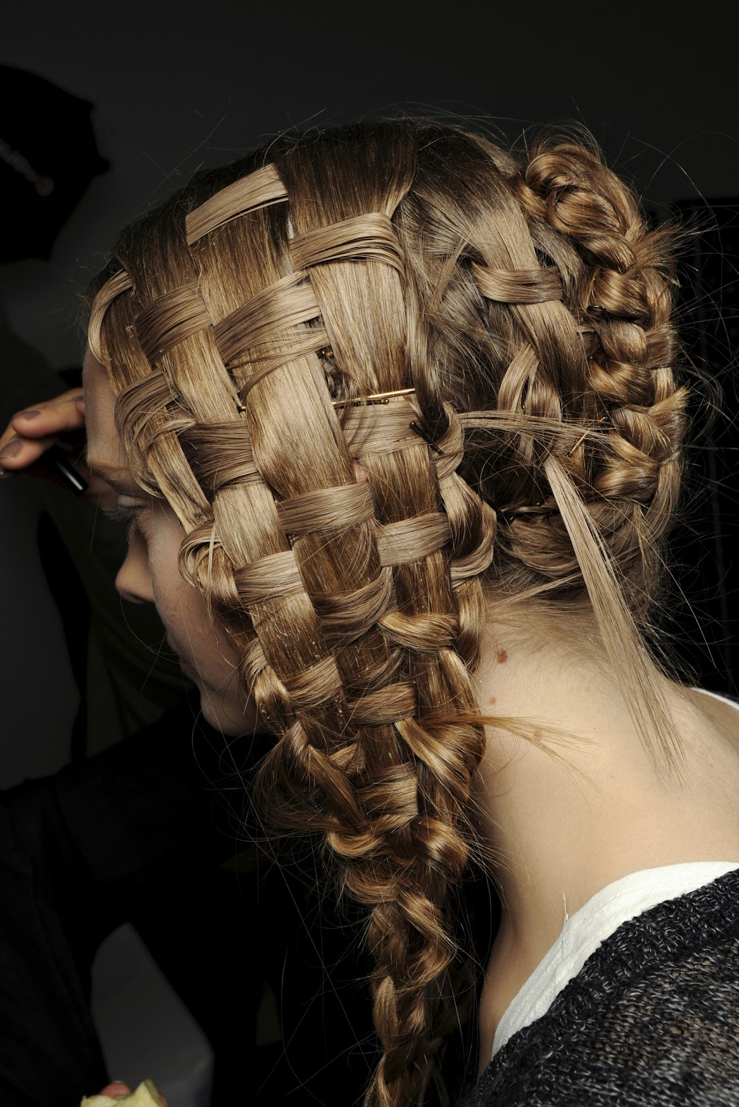 runway-basket-weave-braids-hairstyles-ideas