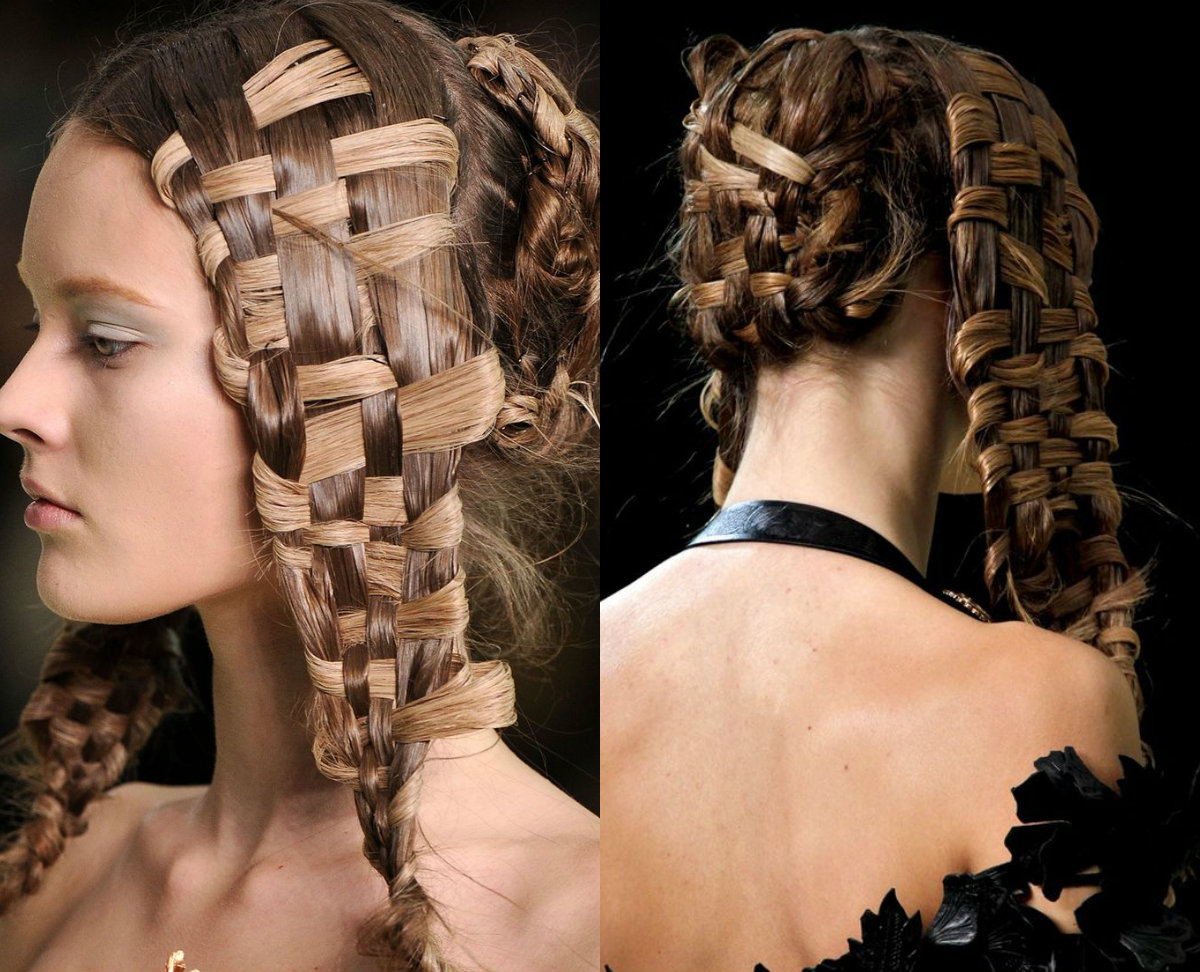 runway-basket-weave-braid-hairstyles