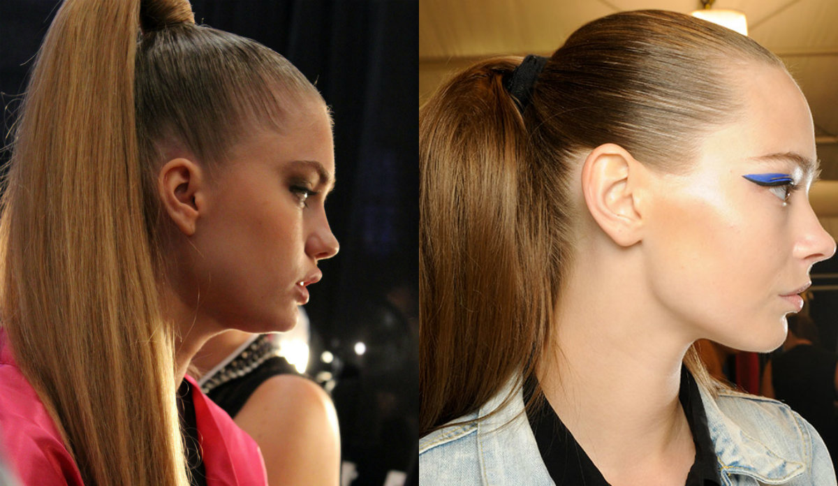 runway high sleek ponytail hairstyles