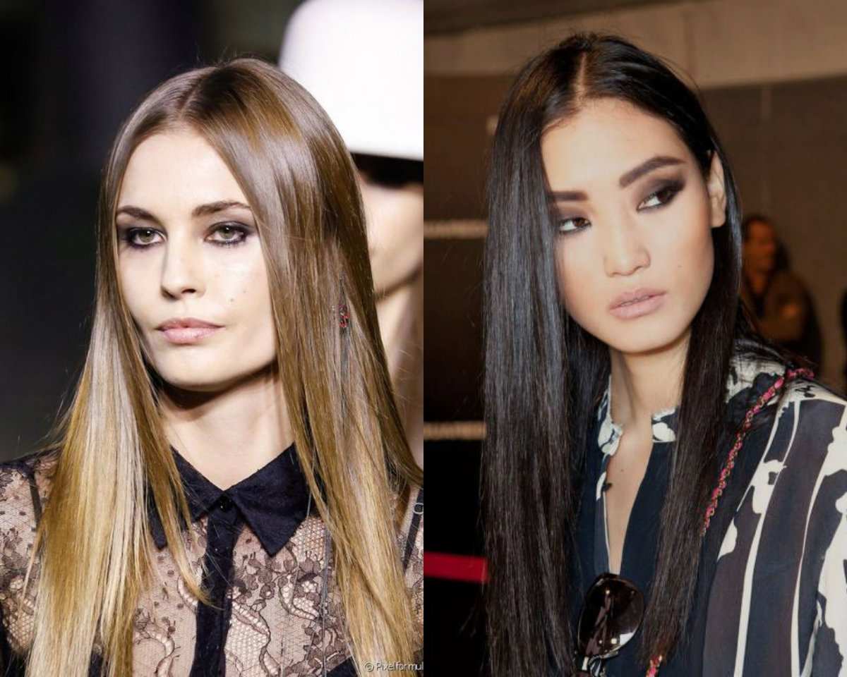 straight sleek hairstyles 2017 spring summer