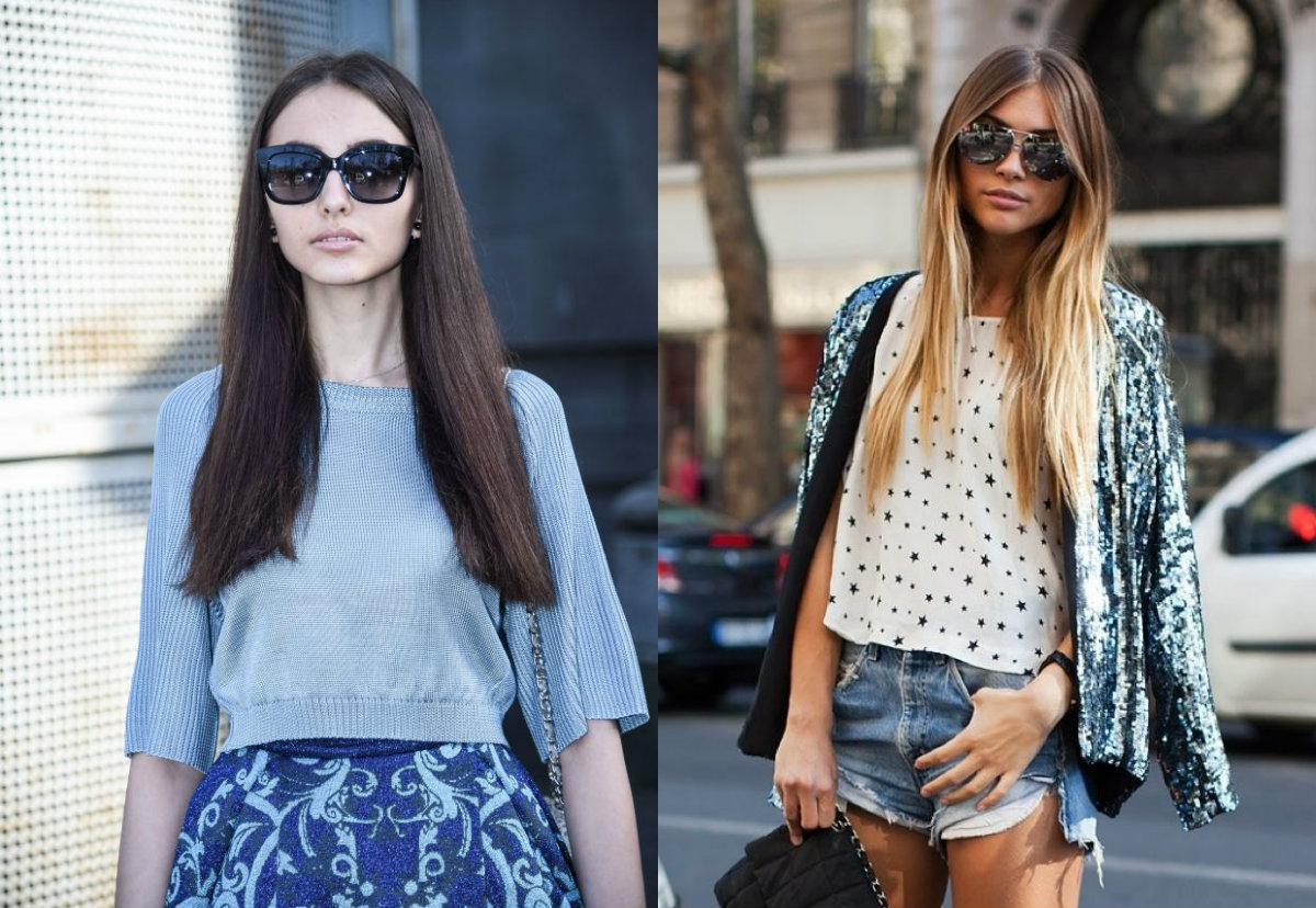 street style mid part long straight hairstyles