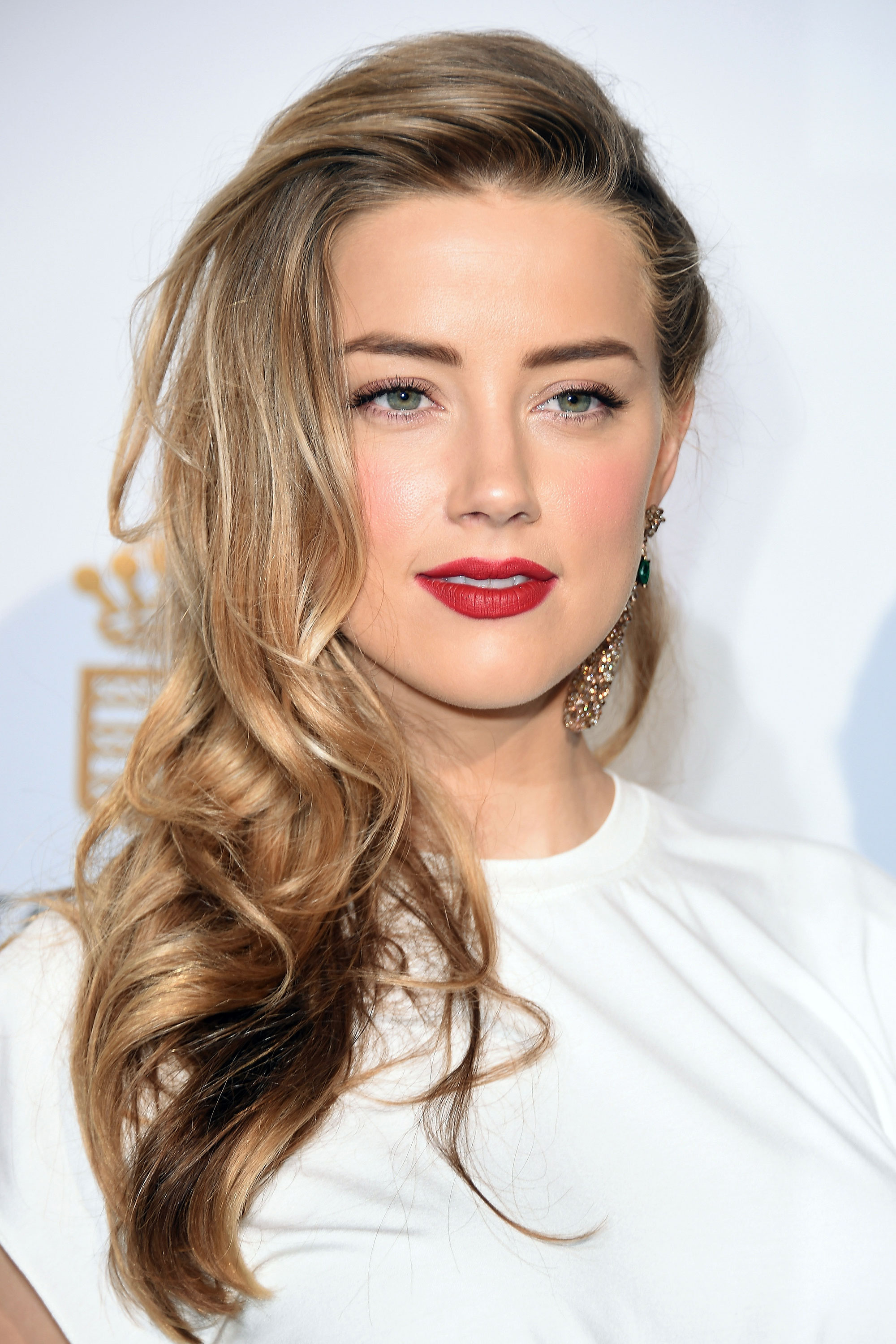Amber Heard caramel hair colors for spring