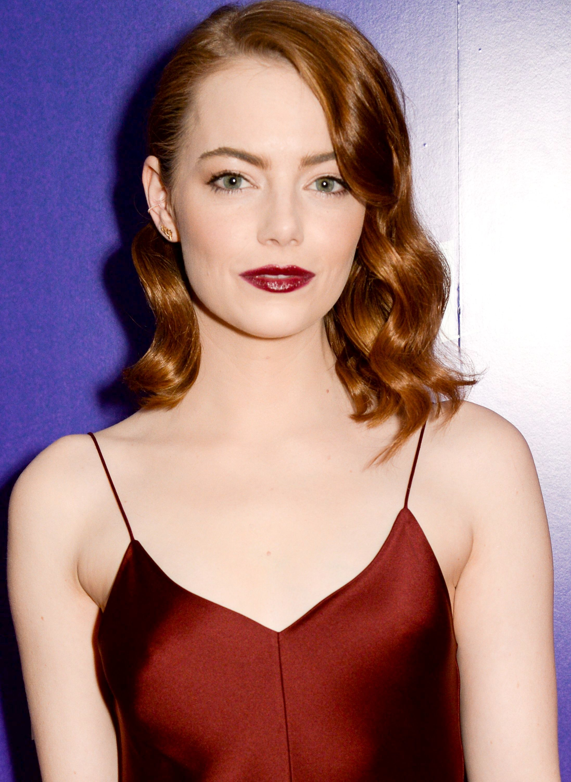 Emma Stone retro Hollywood hairstyles
