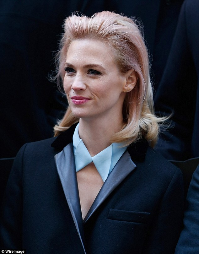January Jones pink hair color trends 2017