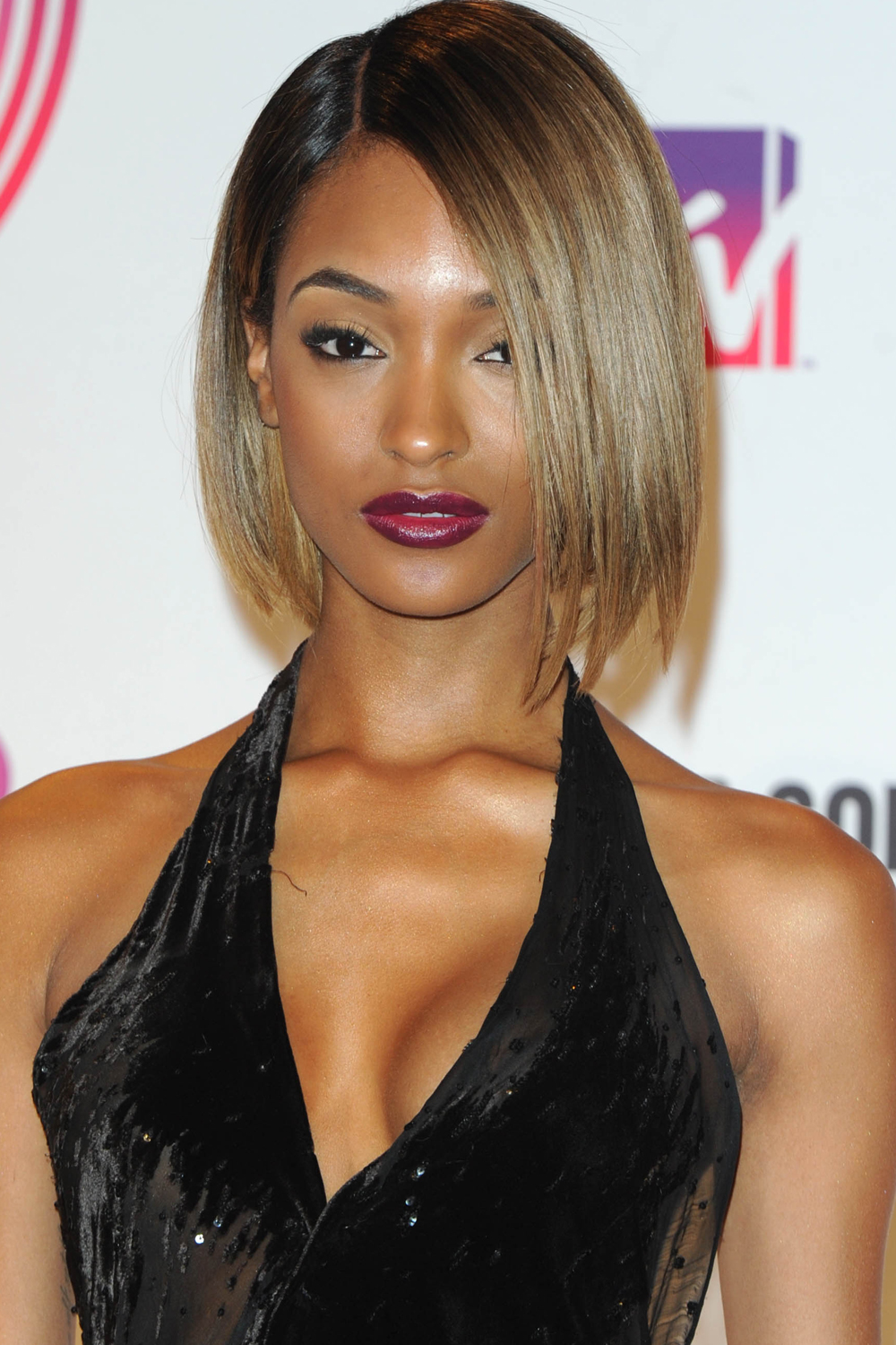 Jourdan Dunn brown hair colors 2017