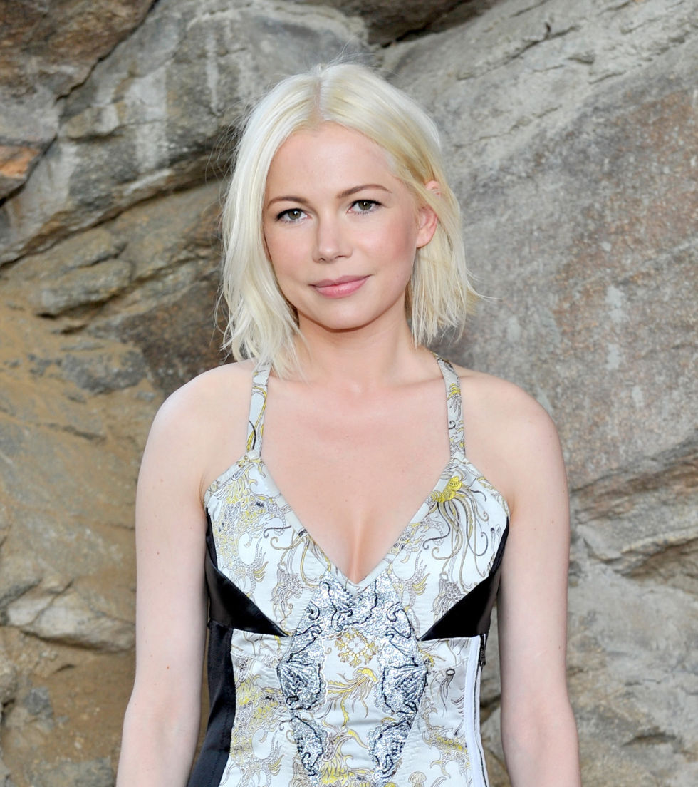 Michelle Williams platinum blonde bob hairstyles