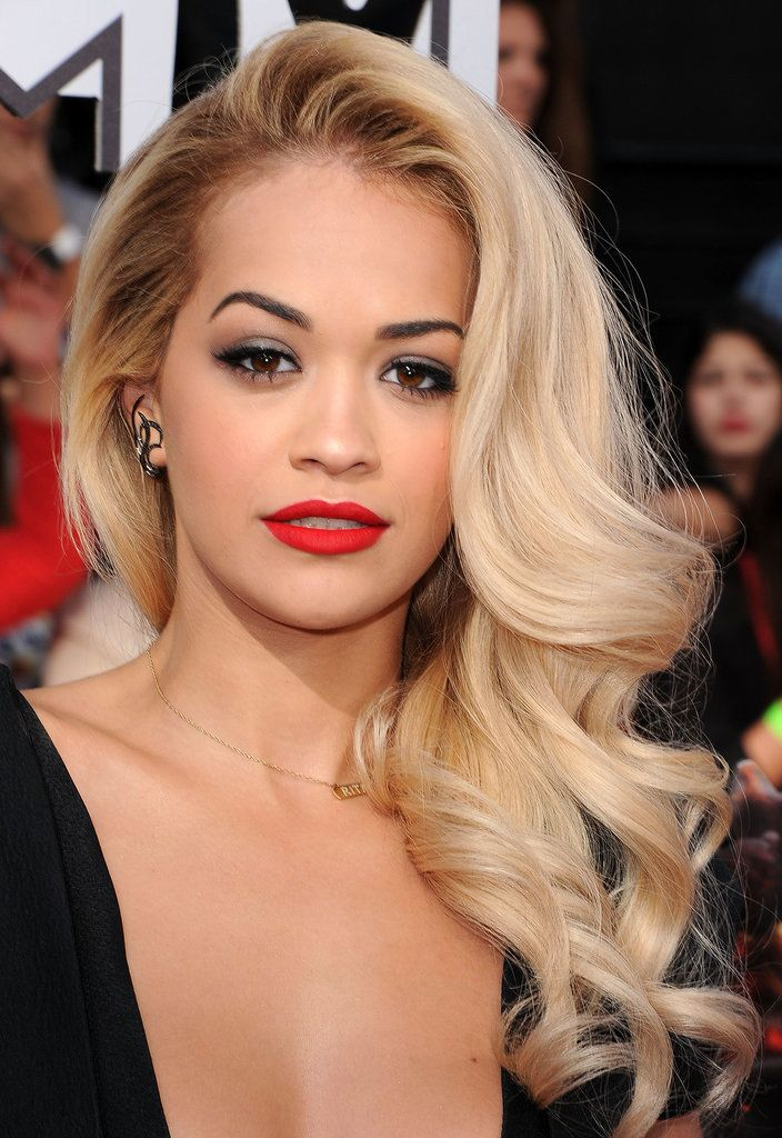 Rita Ora retro Hollywood hairstyles