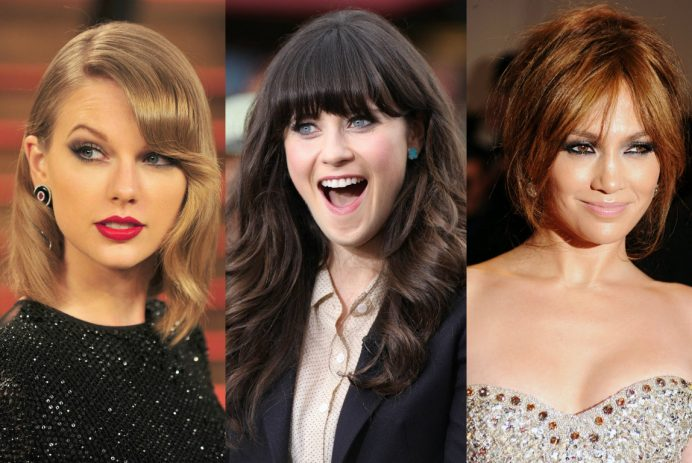 best celebrity bangs hairstyles 2017