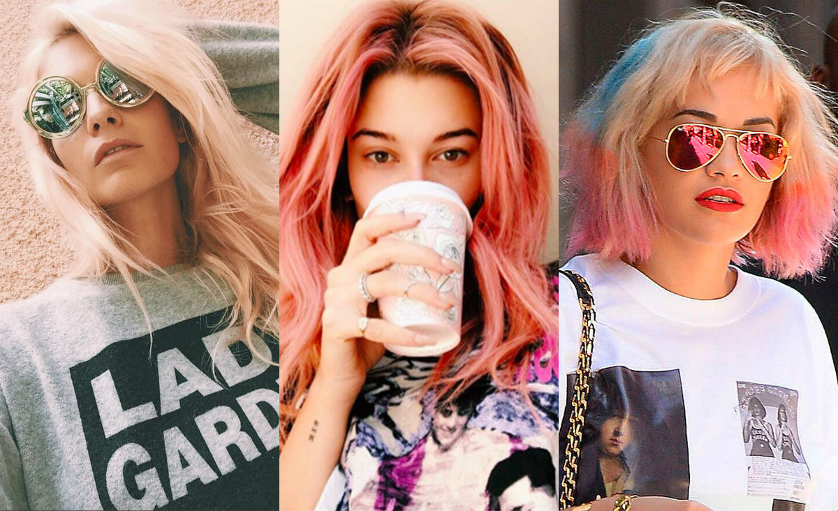 Best Rose Gold And Pink Hair Color Trends 2017