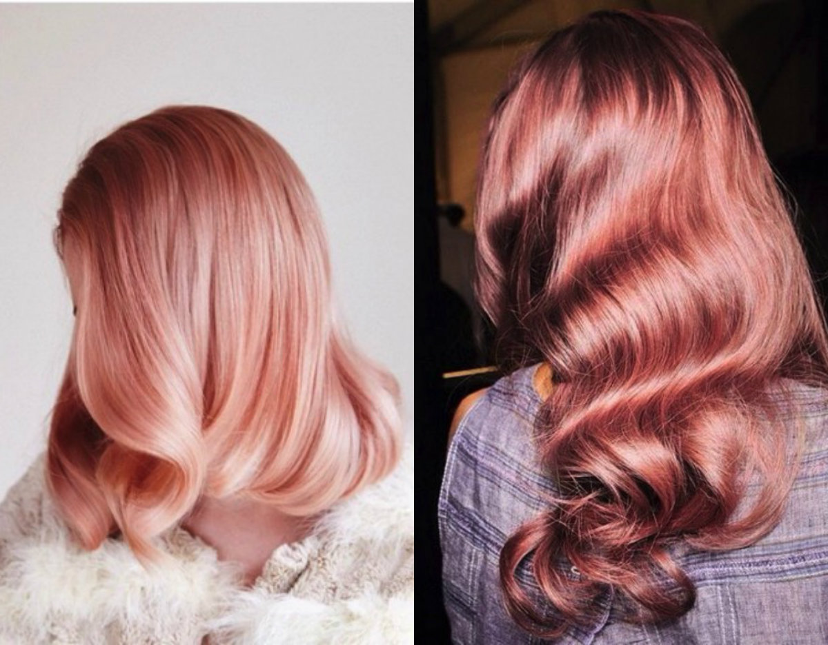 metallic pink blorange hair colors 2017