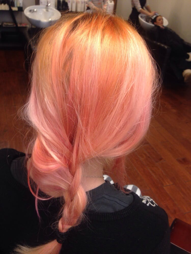 orange sherbet blorange hair colors 2017