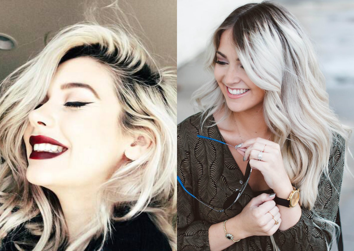 rooted blonde hair color trends 2017 spring