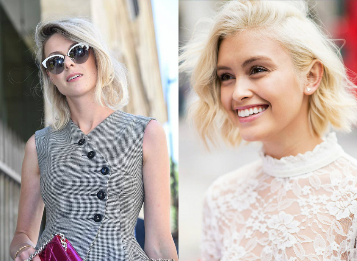street style side swept bob hairstyles 2017