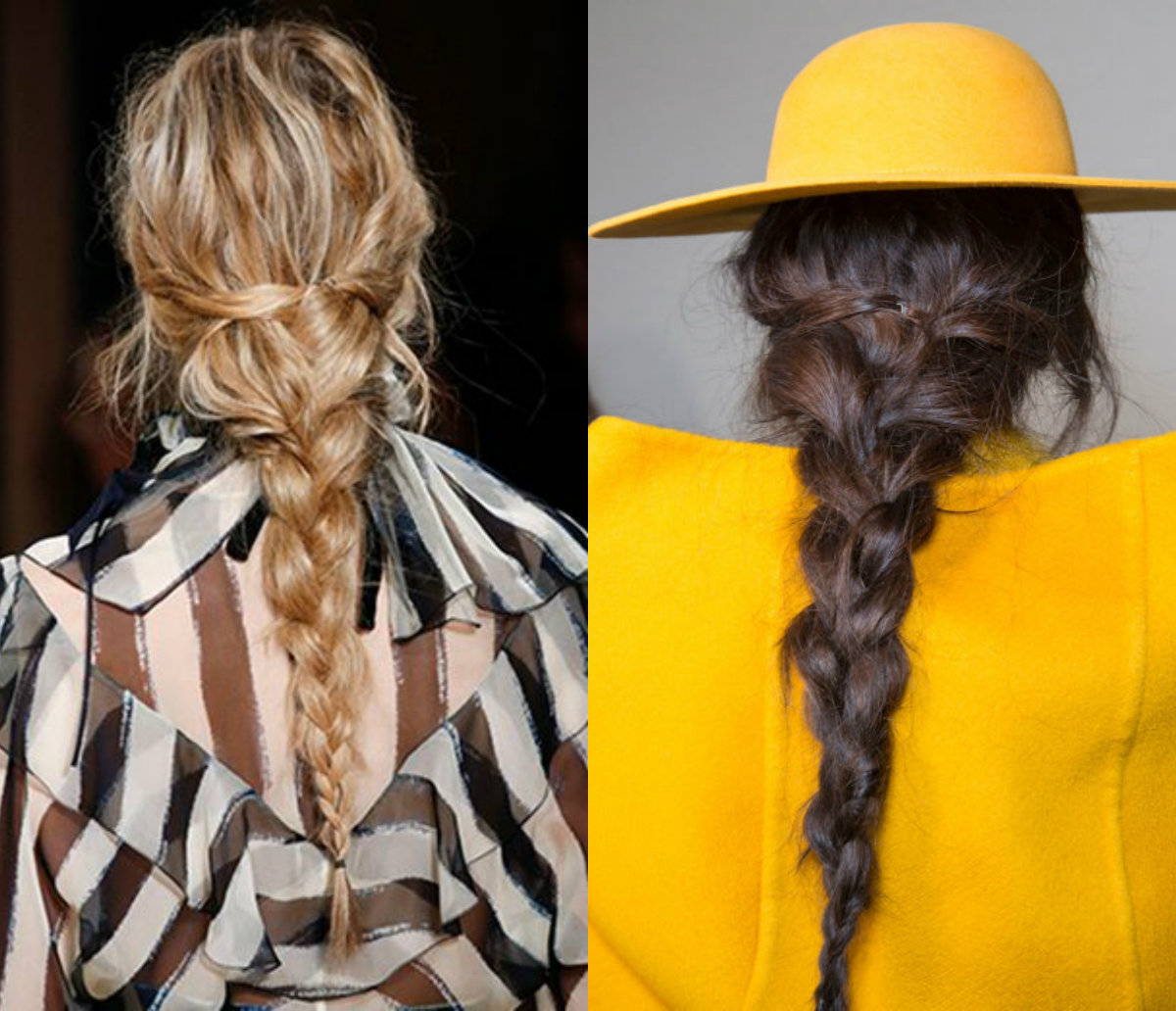 Alberta Ferretti braids hairstyles 2017 fall