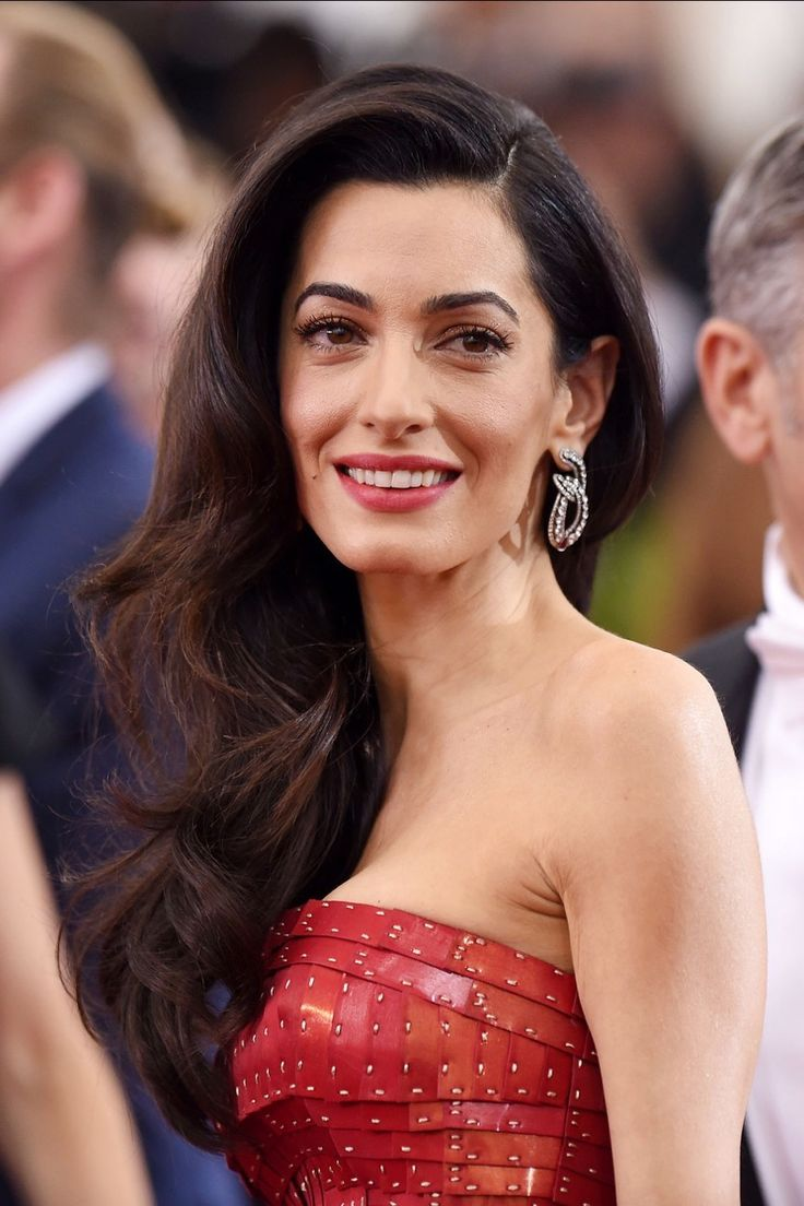 Amal Clooney brunette hair color