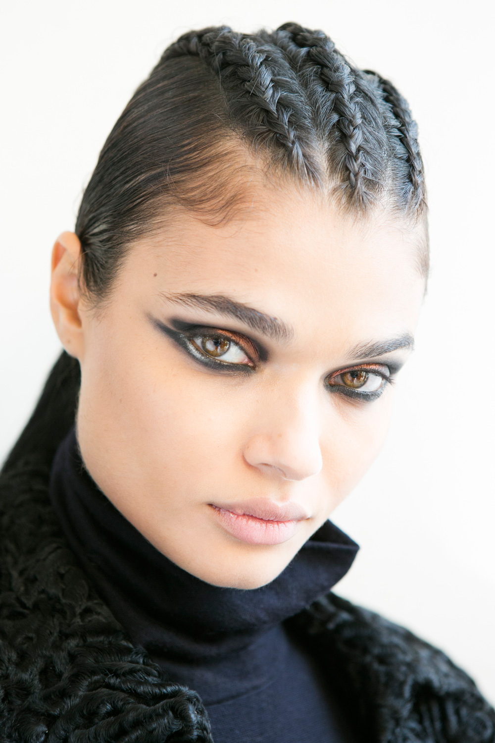 BALMAIN cornrows hairstyles 2017 fall