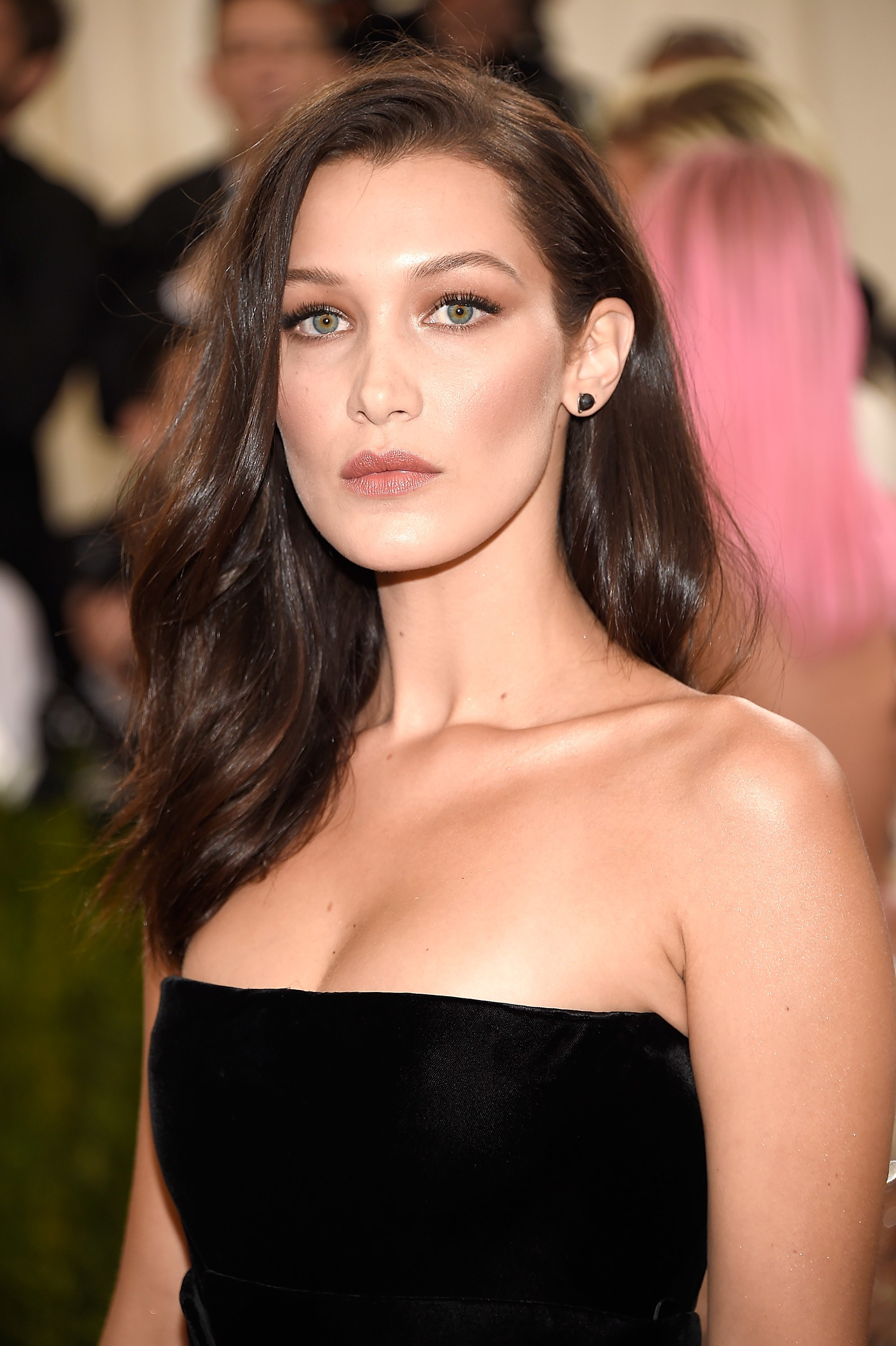 Bella Hadid brunette hair colors