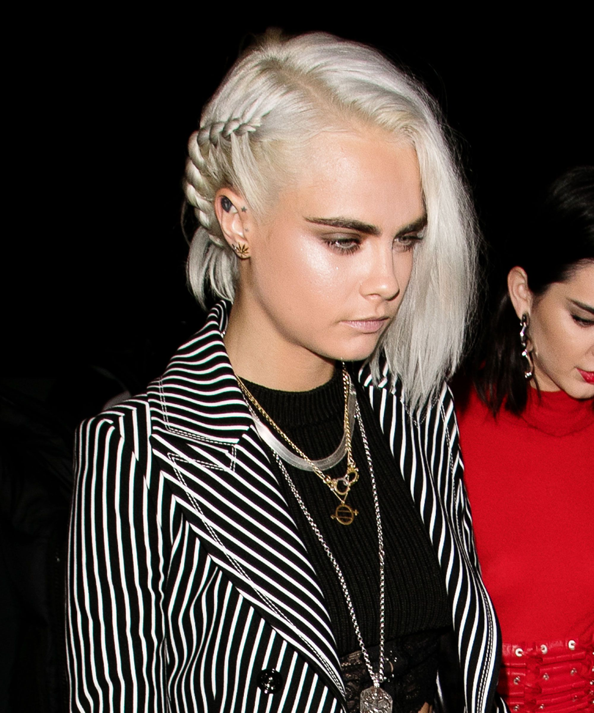 Cara Delevingne platinum blonde hair colors