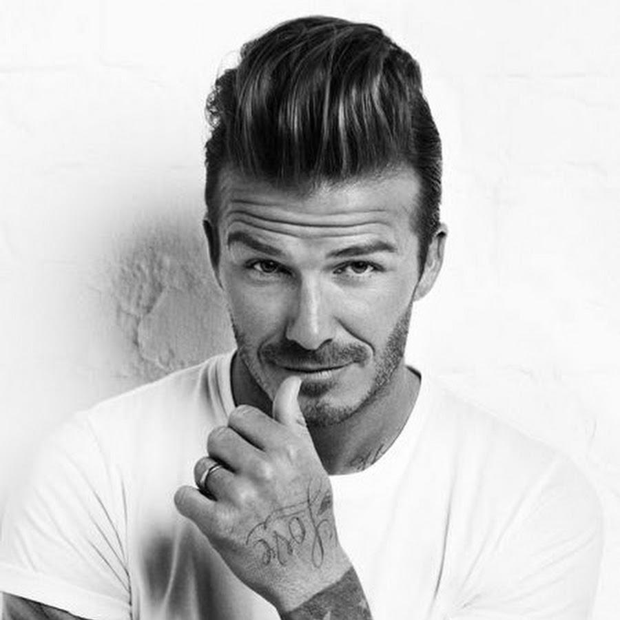 David Beckham widows peak hairstyles for men