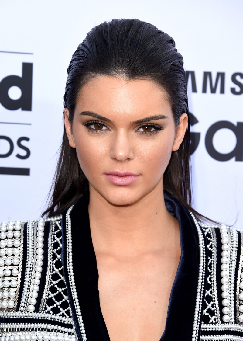 Kendall Jenner slicked hairstyles 2018