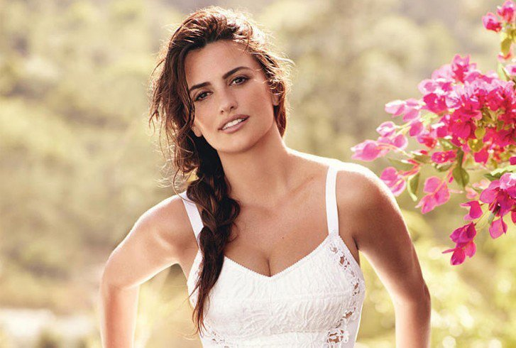 Penelope Cruz side braids ponytail hairstyles