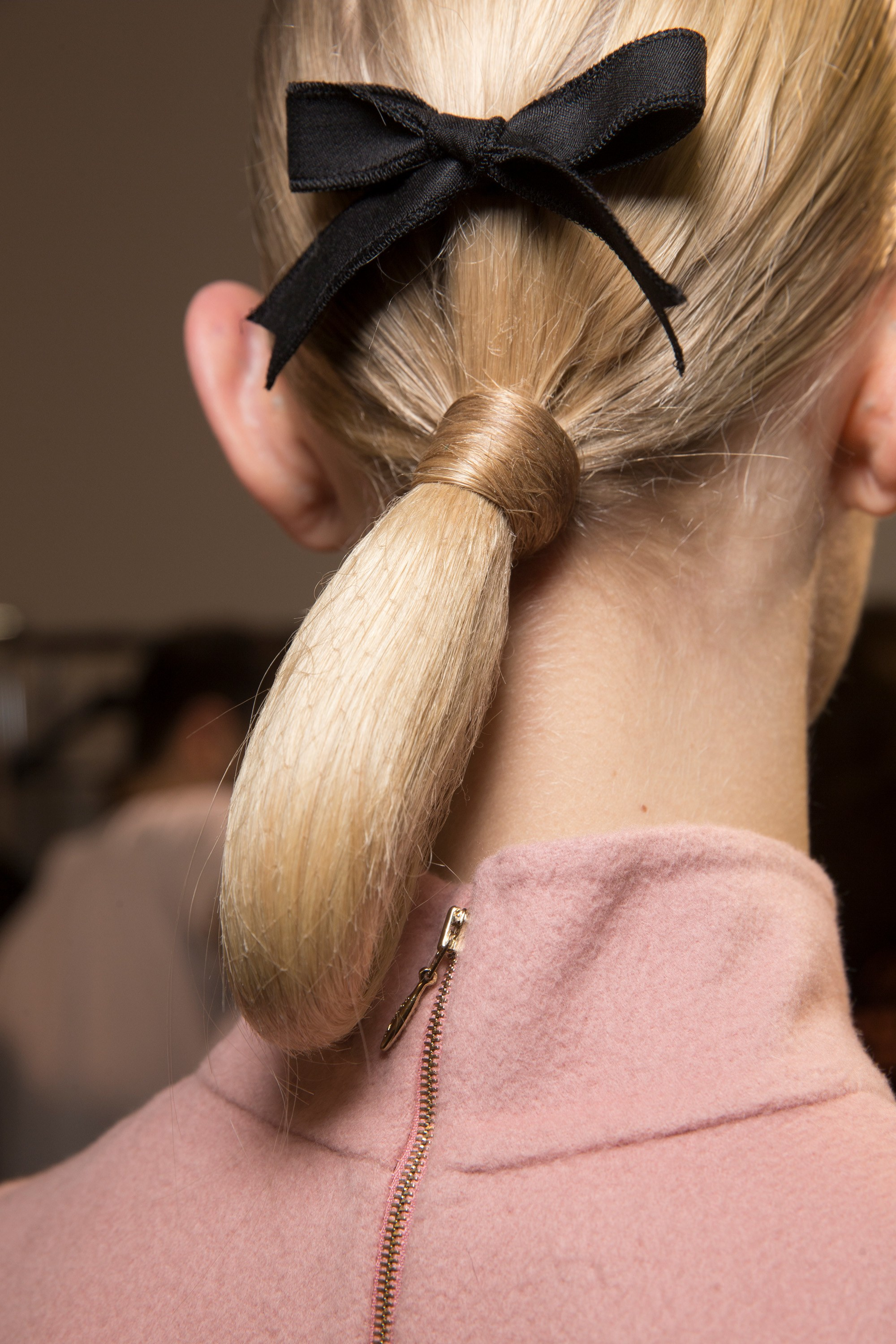 Rochas low ponytail hairstyles 2018