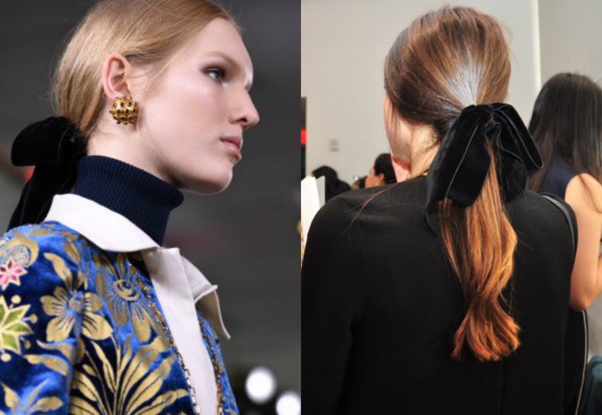 Tory Burch low ponytail hair velvet ribbon 2017 Fall