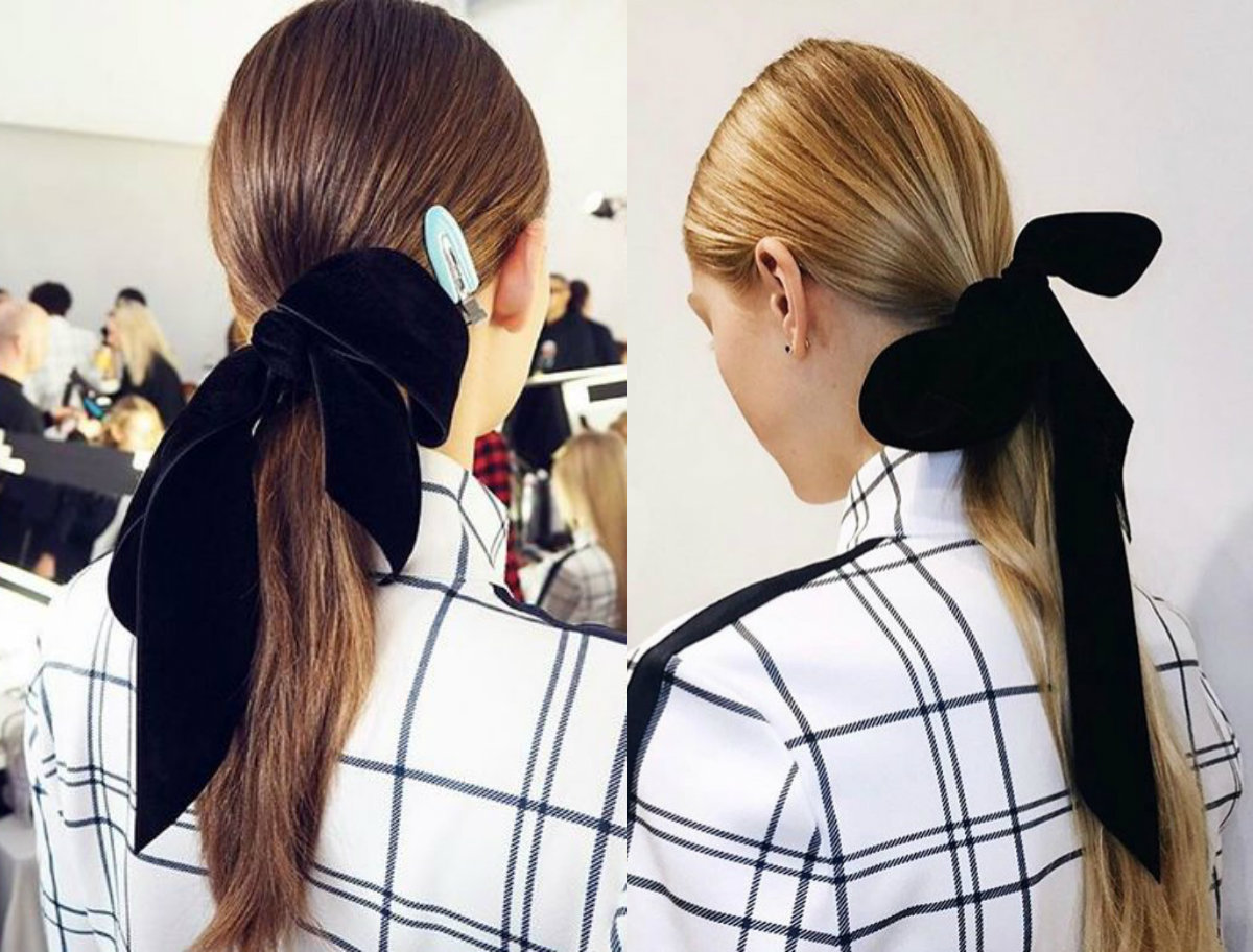 Tory Burch low ponytail with velvet ribbon 2017 Fall