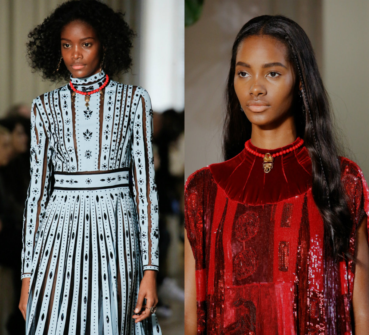Valentino black women hairstyles 2017 Fall-Winter 2018