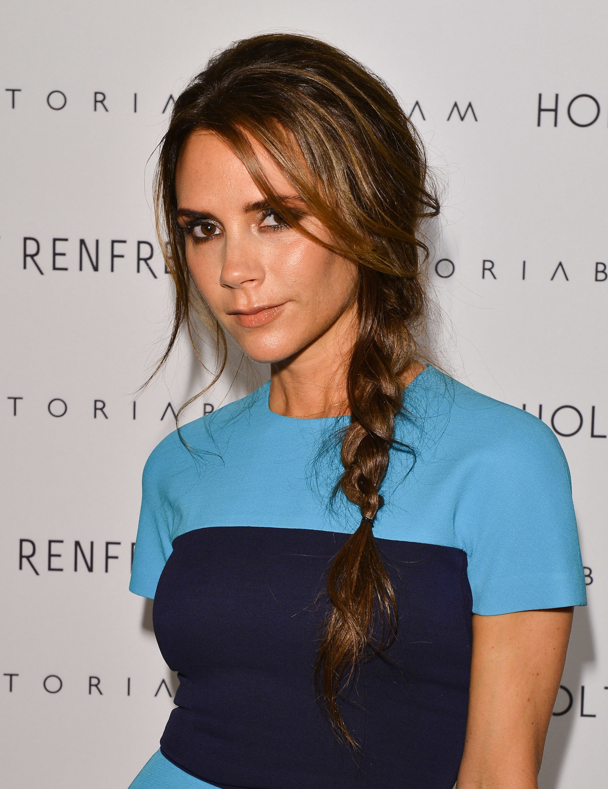 Victoria Beckham brunette hair colors