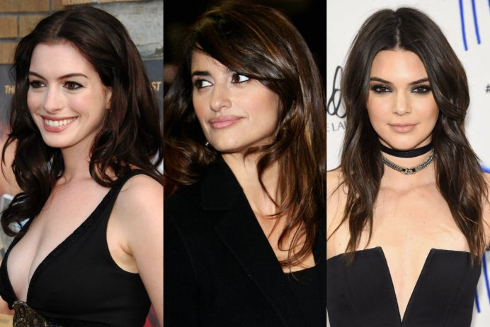 best celebrity brunette hair colors
