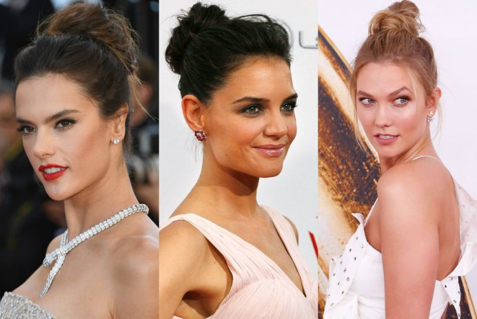 best celebrity messy bun hairstyles