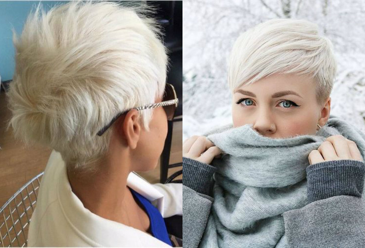 bleached blonde pixie haircuts