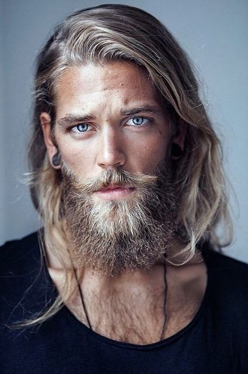 blonde long haired men