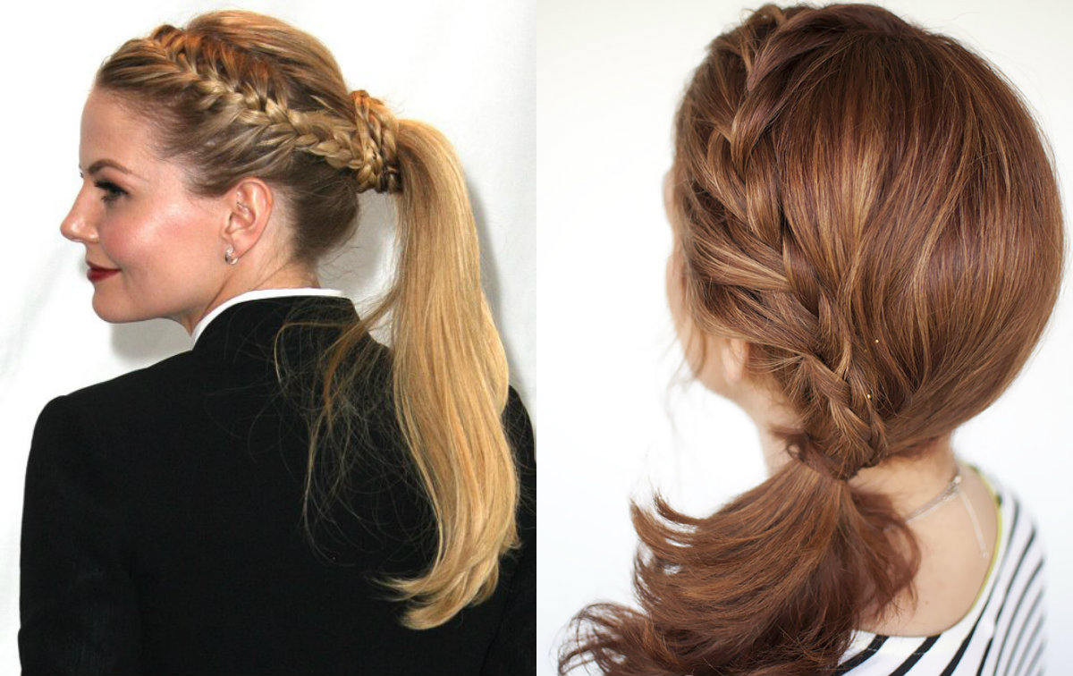 french braids ponytails