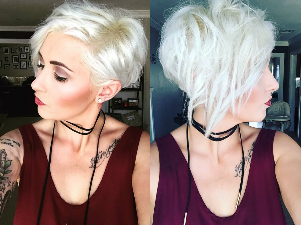ice blonde pixie haircuts