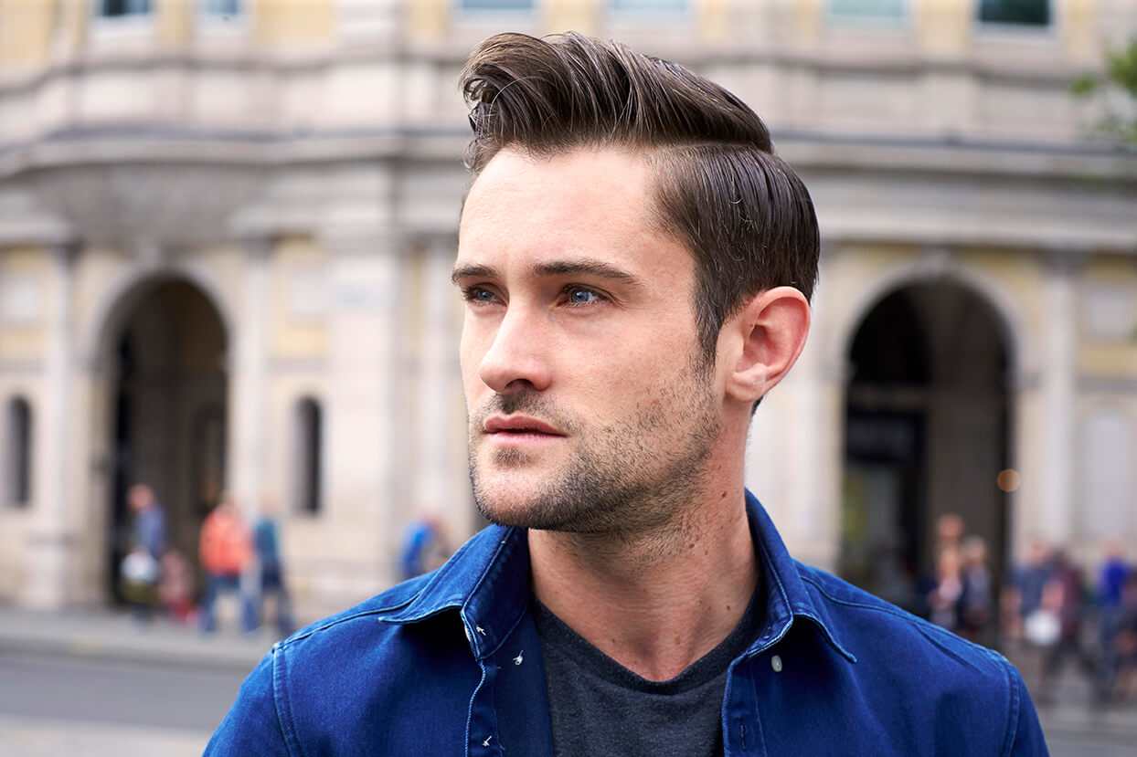 street style widows peak hairstyles for men