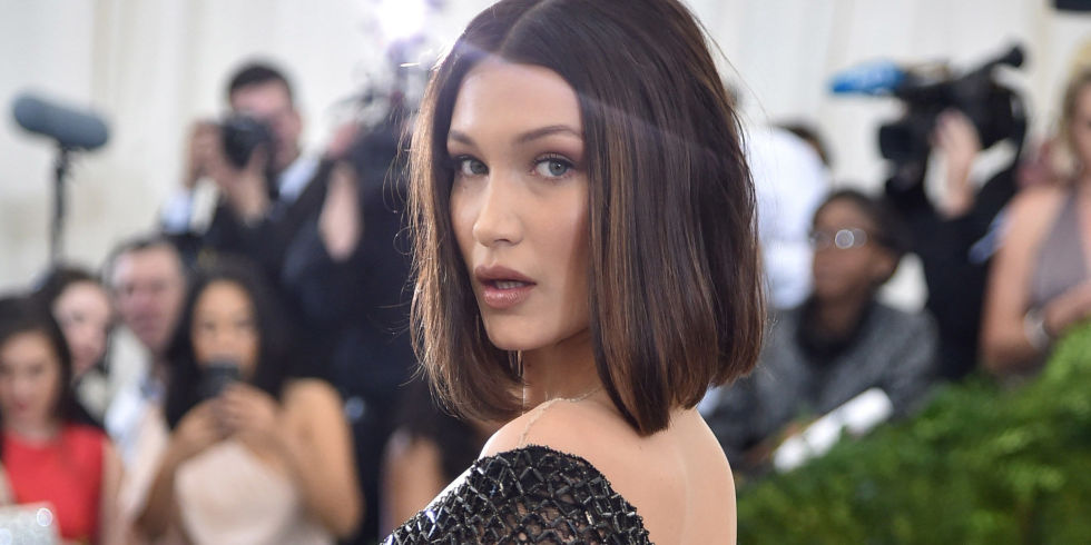 Bella Hadid bob hairstyles at MET GALA 2017
