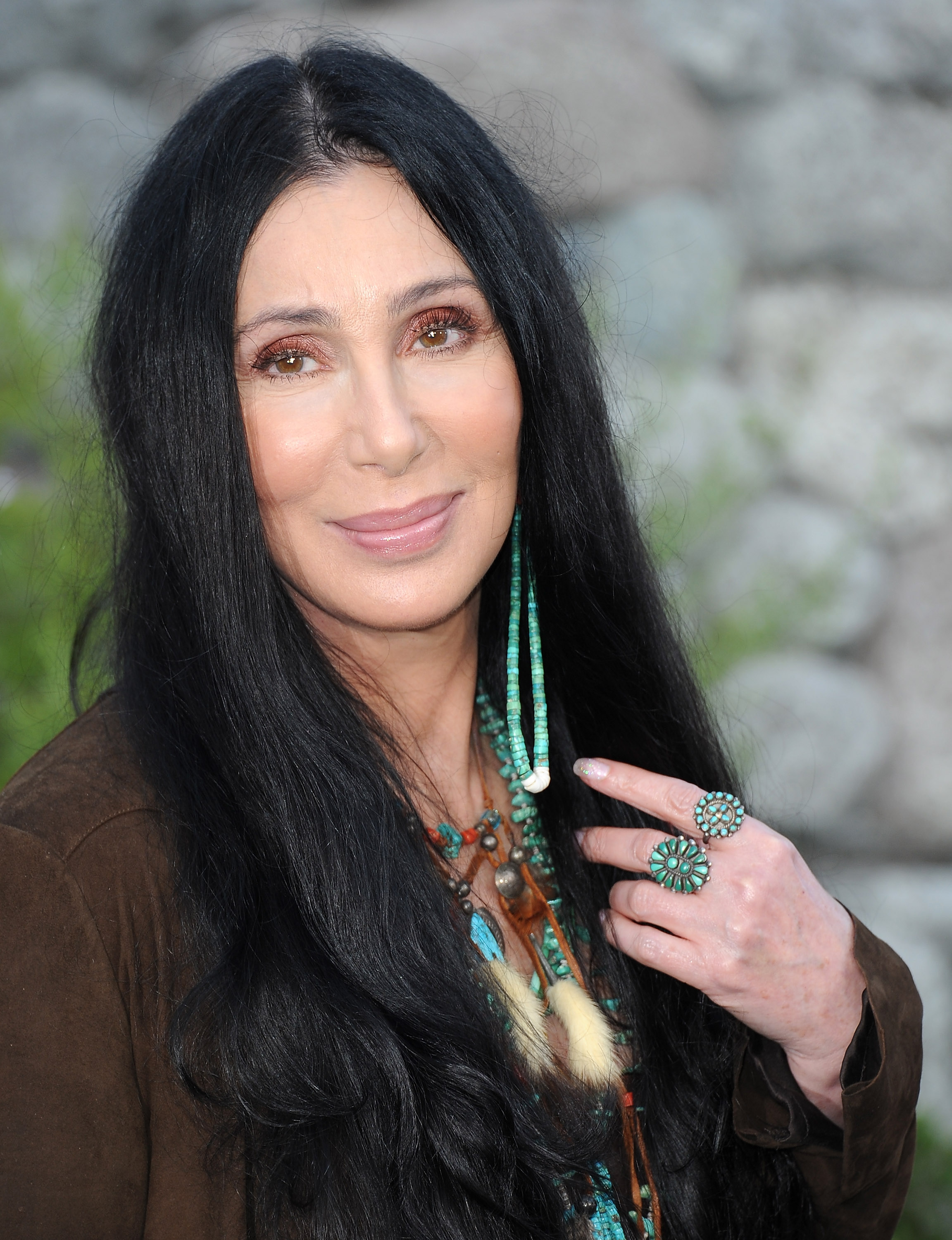 Cher-long-black-hairstyles