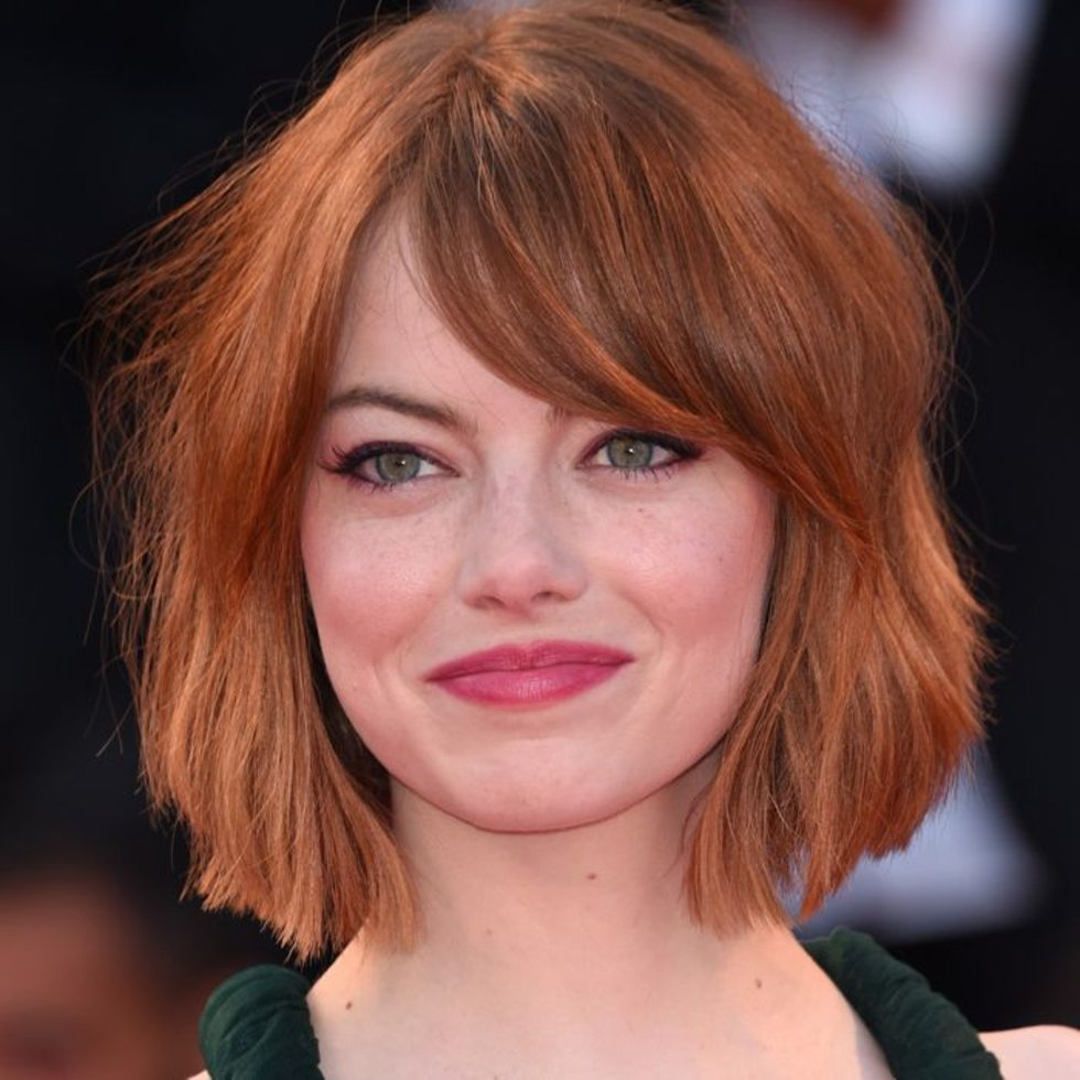 Emma Stone light copper hair colors 2018 winter