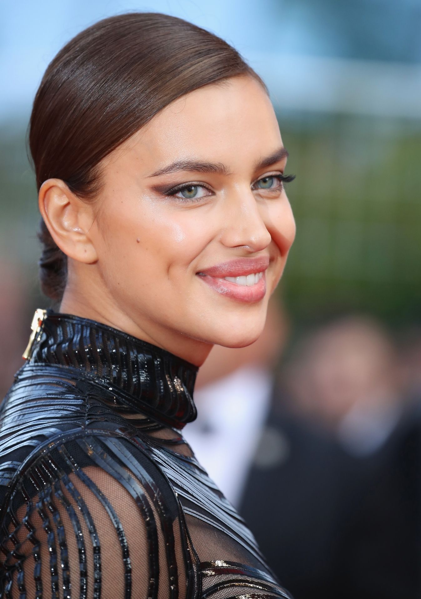 Irina Shayk slicked hairstyles 2017 Cannes
