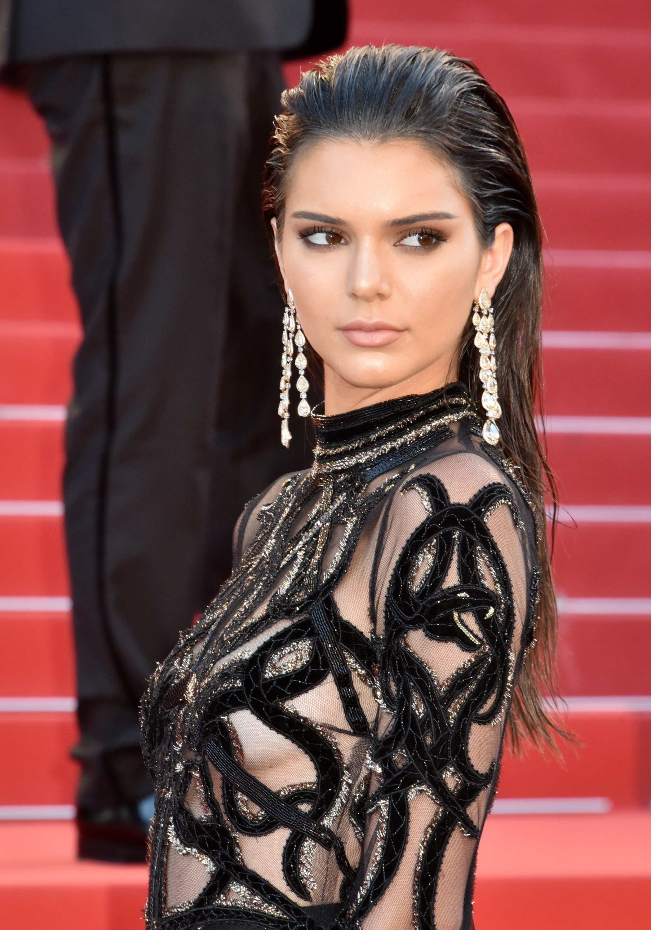 Kendall Jenner slicked back long hairstyles