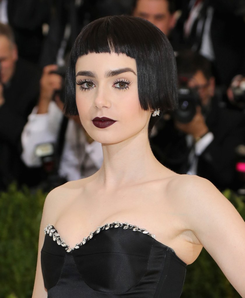 Lily Collins bob hairstyles at MET GALA 2017